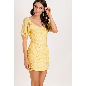 Summer Sweetheart Ruched Dress