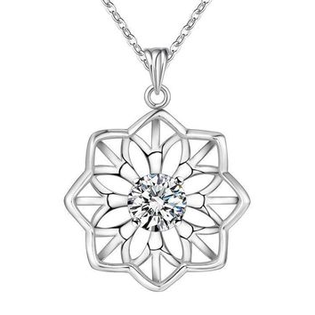 Sterling Silver CZ Star of David Dog Tag Necklace for Women Micro Pave Rhodium Finish 7//8 inch tall