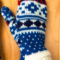 Women's Mittens Knit Recycled Sweater