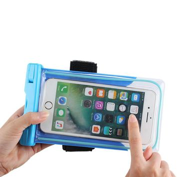 5.7inch Waterproof Bag Luminous Mobile Phone Touch Screen Dry Bag Underwater Pouch Dry Case Cover For Canoe Rafting Swimming