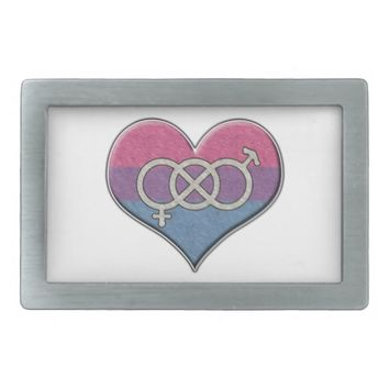 Bisexual Pride Heart with Gender Knot