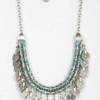 Sogno Bello Coin Necklace- Turquoise One