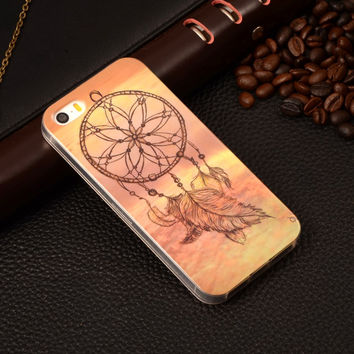 Dream Catcher Painting Rubber TPU Soft Mobile Phone Protective Case Cover For Apple iPhone 5/5S