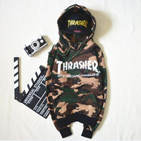 Men Sportswear Hooded Sweatshirts Skateboard Graphic Pullover