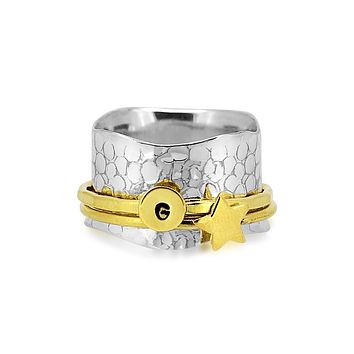 Stardust Initial Ring