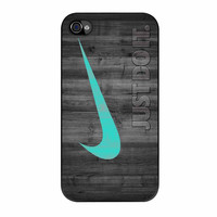 Nike Mint Just Do It Wooden iPhone 4 Case