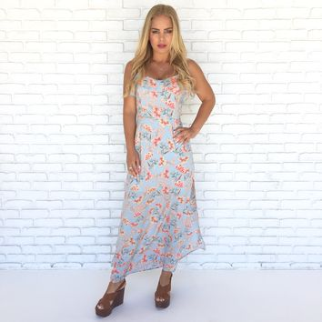 In The Garden Floral Maxi Dress