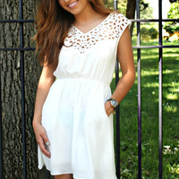 Truth or Darling Dress-White