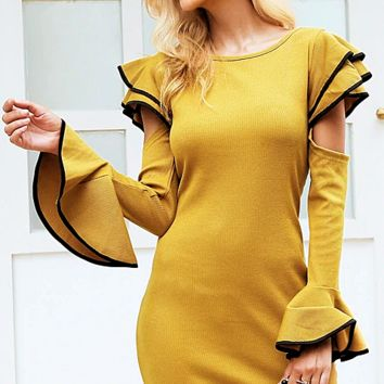Annamaria Ruffle Sweater Dress