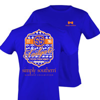 Simply Southern Tailgate Tee - Orange/Blue
