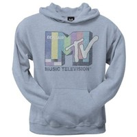 Mtv Icons & Shows - Mens Color Bars Ladies Pullover Hoodie X-large Grey