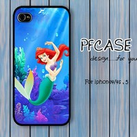 Little Mermaid in the deep sea : Handmade case For Iphone 4/4s ,5