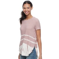 Juniors' Mudd® Tie-Dye Shirttail Tee | null