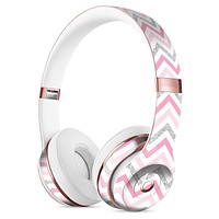 Shades of Pink Glitter Chevron Full-Body Skin Kit for the Beats by Dre Solo 3 Wireless Headphones