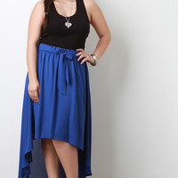 High-Low Flowy Maxi Skirt