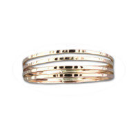 Four Strand Hammered Ring - Gold Filled