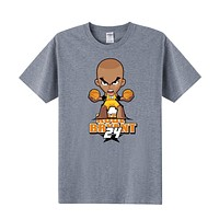 Summer Men T Shirt Cartoon Kobe Bryant  T Shirt Cotton Short-Sleeve T-Shirt Men Boy Top Tees