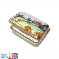 View at Chartwell by Sir Winston Churchill Halcyon Day enamel box. , Enamels , Paintings