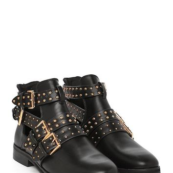 Cut It Out Studded Boot