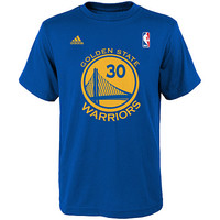 adidas Youth Golden State Warriors Stephen Curry Game Time Name And Number Short-Sleeve T-Shirt