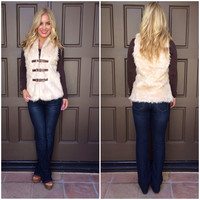 Buckled In Faux Fur Vest