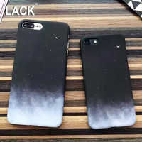 LACK Fashion Gradient Starry Sky Case For iphone 6 Case Lovely Cartoon Moon Hard PC Phone Cases Cover For iphone 6S 7 7 Plus NEW