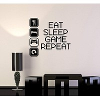 Vinyl Decal Gaming Video Game Gamer Lifestyle Quote Wall Sticker Mural Unique Gift (ig2753)