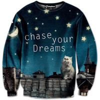 Chase Your Dream Cat Crewneck