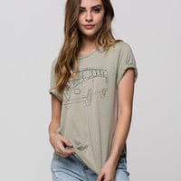 Rip Curl Woodland Womens Tee Army  In Sizes