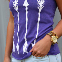 Arrows on Arrows Tank {Purple}