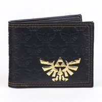 Nintendo Legend of ZELDA Logo Black Bi-Fold WALLET