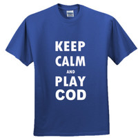 Keep Calm And Play Call of Duty- Adult Ultra Cotton T-Shirt