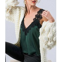 Emerald Green Lace Layering Cami