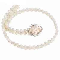 Elegant Faux Pearl Beads Belt