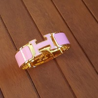 Authentic Hermes Clic Clac Wide Bracelet