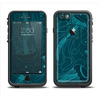 The Dark Vector Teal Jelly Fish Apple iPhone 6 LifeProof Fre Case Skin Set