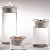 Rounded Crystal Tealight Candle Holder