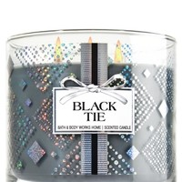 3-Wick Candle Black Tie