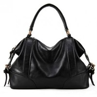 Trendy Zipper Faux Leather Belt Details Black PU Hobo Bags   martofchina.com-Page Cached
