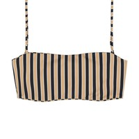 SKIN - Bandeau Top | Tan/Black Stripe