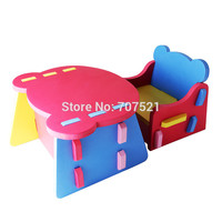 foam EVA learning chair table set baby plastic kids table and chair sets kids furniture portable children dinner stool chair