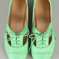Sweet Cut Out Lace Up Oxford Flat