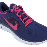 Amazon.com: Nike Women's NIKE FREE RUN+ 3 WMNS RUNNING SHOES 5.5 (NGHT BL/FRBRRY/PR PLTNM/FRNRRY): Shoes