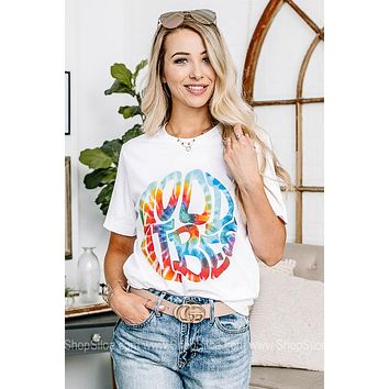 Good Vibes Tie Dye Graphic Tee