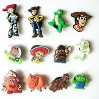 12 Toy Story Shoe Charms for Fit Jibbitz Croc Shoes