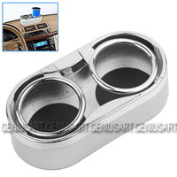 Durable Plastic Auto Car Truck Mount Dual Hole Drink Bottle Cup Holder Stand