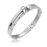 Partner in Crime Handcuff Bracelet Bangle Silver Tone Stainless Steel
