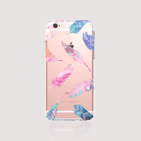 iPhone 6s Case Clear iPhone 6s Plus Case Feather iPhone 6 Case Feather iPhone 6S Plus Case Pink Samsung Galaxy S6 Case Tribal Feathers