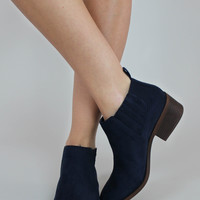 Stand Up Straight Navy Bootie