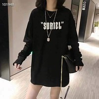 Woman Leisure Fashion Letter Personality Drill Wing   Printing  Crew Neck  Loose Short Sleeve Motion Hedging  Tops